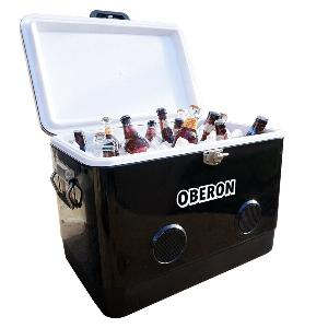Print BREKX Party Cooler - 54QT Cooler with Bluetooth Speakers (Black)