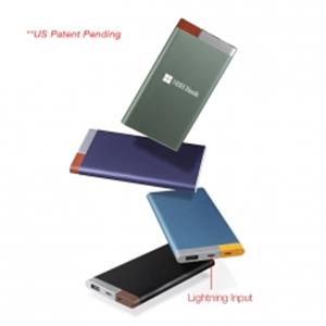 Metal Power Bank w/Lightning and Micro USB Input - 5,000 mAh