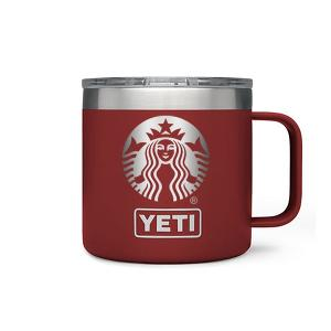 Engraved YETI 14 oz Brick Red Rambler Mug